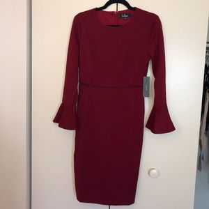 Lulu's shift dress with drill sleeves